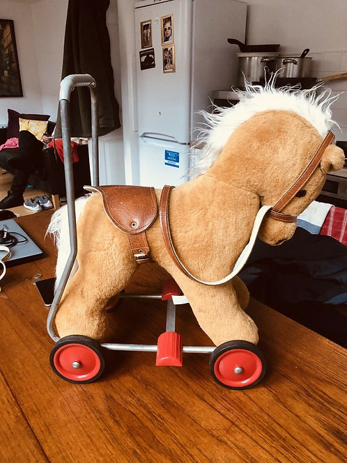 VINTAGE LEFRAY TOY HORSE WITH WHEELS PUSH ALONG BABY WALKER