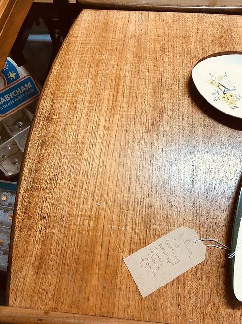 NEST OF GPLAN COFFEE TABLES SOLID TEAK