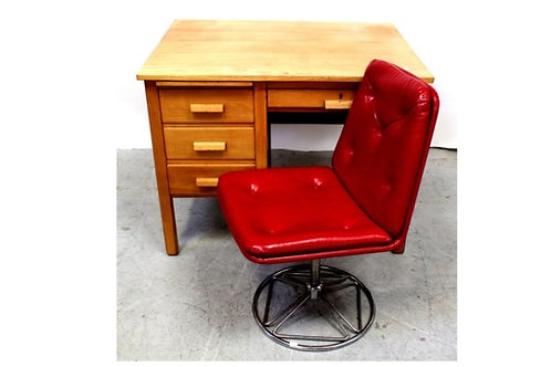 VINTAGE 1970S DESK AND CHAIR