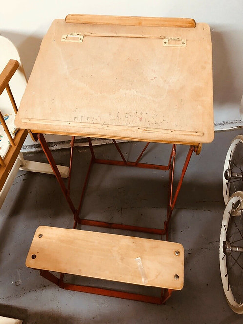 CHILD'S VINTAGE DESK AND CHAIR