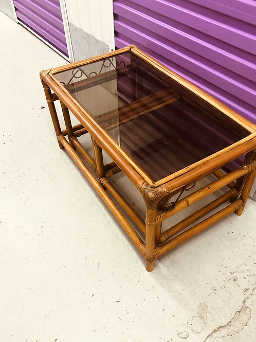 NEST OF 1960S BAMBOO TABLES