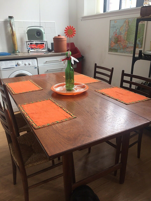 1960S DROP LEAF TABLE & CHAIRS