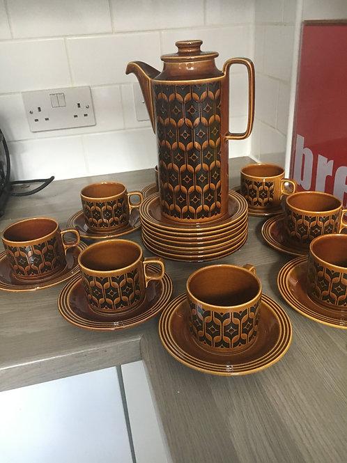 HORNSEA HEIRLOOM POTTERY COFFEE SET