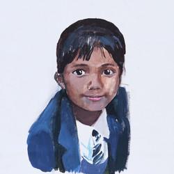 Cristina Megía, Apunte (Girl), Acrylic on canvas, 75 x 70 cm, 2019