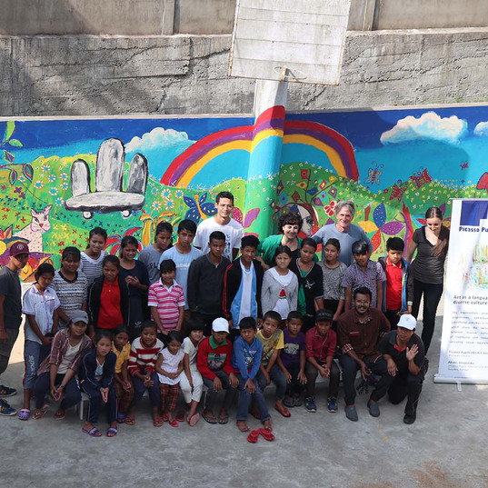 Wall Painting workshop at Orphanage Mawk