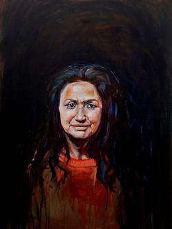 Katerina Pekna, Tribal Woman, , Acrylic on canvas, 100 x 75 cm, 2016