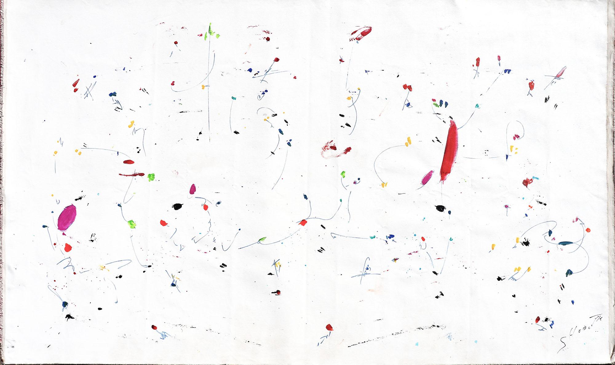 Kaoru Shibuta, 192 x 114 cm, Acrylic on unstreched cnavas, 2018