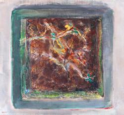 Eliska Fialova, Flowerpot 4, Acrylic on canvas, 30 x 30 cm, 2016