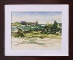Moinuddin Moni, Circuit House, Watercolour on paper, 42 x 50 cm with frame, 2017