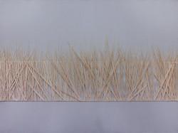 Juhikadevi Bhanjdeo, Grass, Acryl and thread on canvas, 100 x 75 cm, 2017