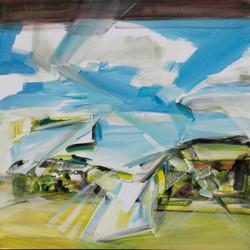 Anna Sypenova, Krajina 2, Acrylic on Canvas, 45 x 45 cm, 2018
