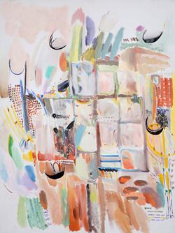 Eliska Fialova, Windproof, Acrylic on canvas, 100 x 80 cm, 2016