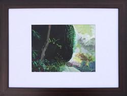 Jana Bednarova, Stone on the way to Rainbow falls, 45 x 50 cm with frame, 2016