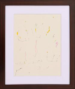 Kaoru Shibuta, Untitled 1, Watercolour on paper, 50 x 42 cm (with frame), 2018