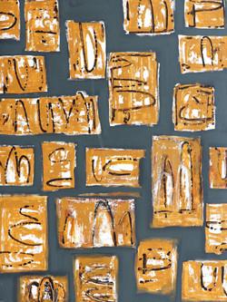 Moinuddin Moni, Monolith 1,Acrylic on canvas,100 x 75 cm, 2017