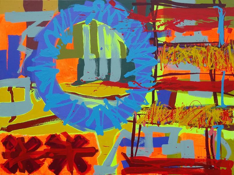 Andrew Smith, Mawkyrduk, Acrylic on canvas, 75 x 100 cm, 2019