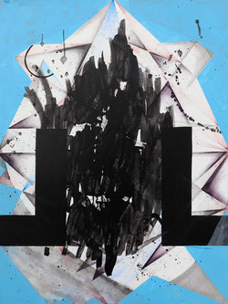 Michaela Vrbkova, Gate 1, Acrylic on canvas, 100 x 75 cm, 2017