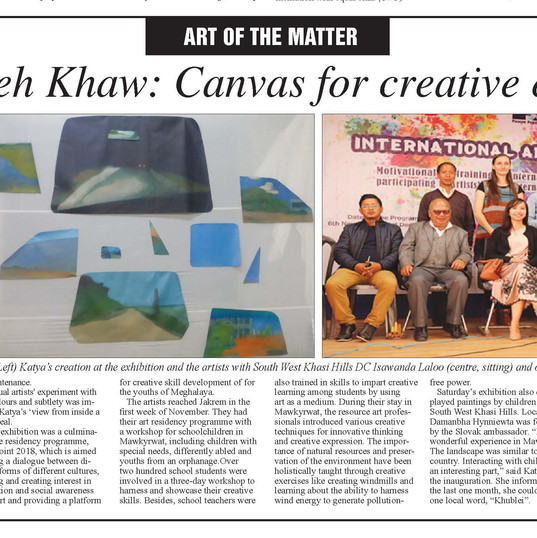 Sunday Shillong Times Article
