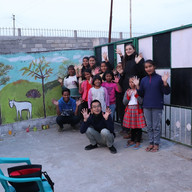 Wall painting workshop in Orphanage Home