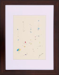Kaoru Shibuta, Untitled 2, Watercolour on paper, 38 x 30 cm (with frame), 2018