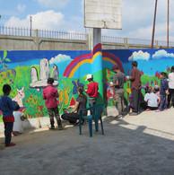 Wall Painting workshop at Orphanage Mawk