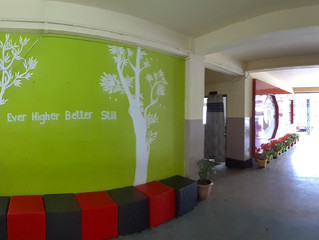 Awareness painting at the main corridor of the schol building
