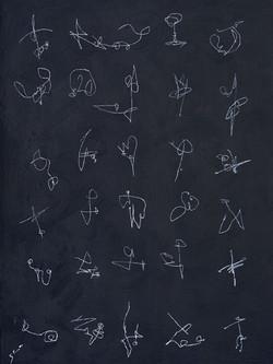 Kaoru Shibuta, Variation,100 x 75 cm, Acrylic on canva, 2018 x 75 cm, 20