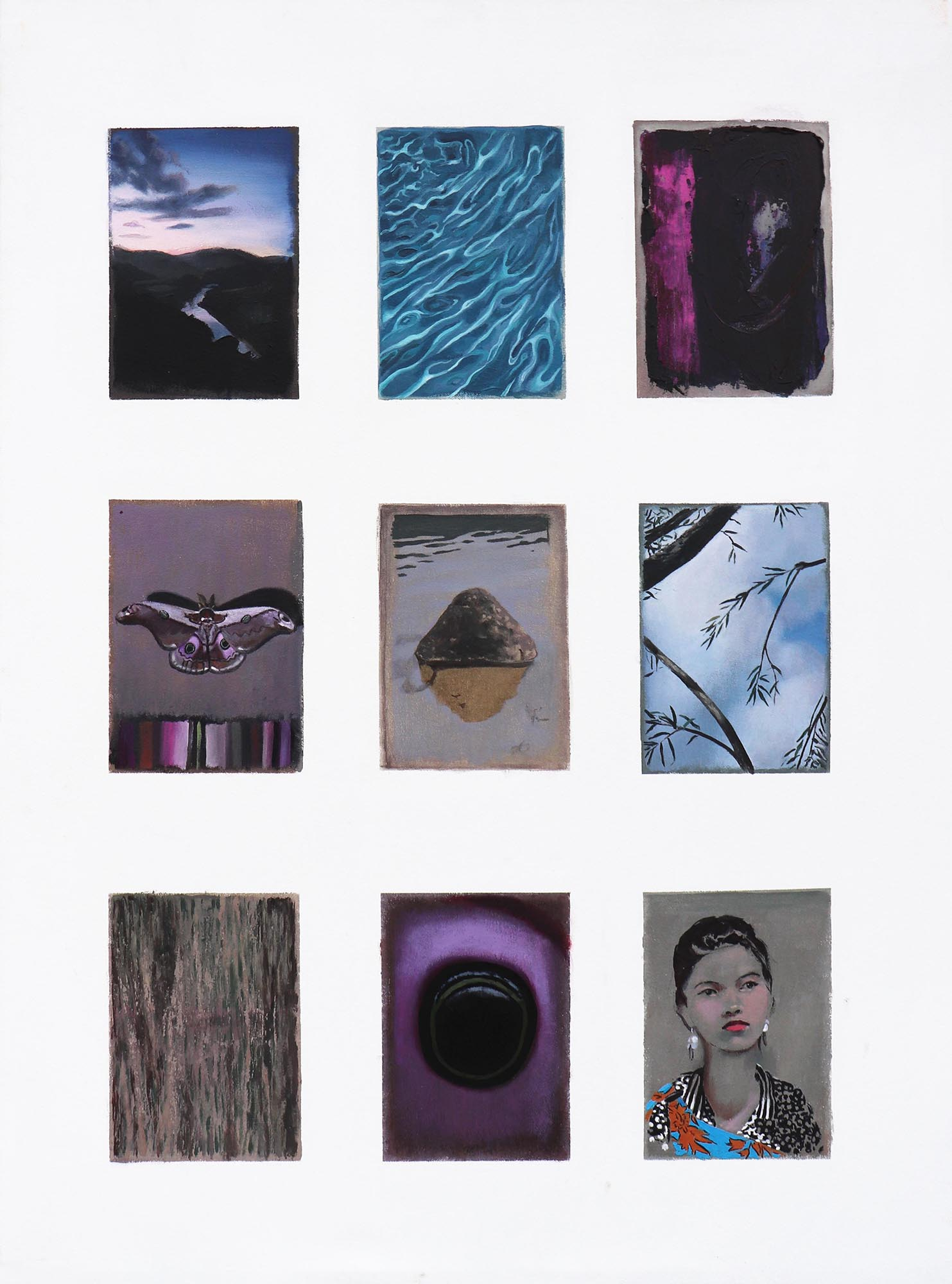 Cristina Megía, Bocetos de Mawkyrwat (Parte I), Acrylic on canvas, 75 x 100 cm, 2019