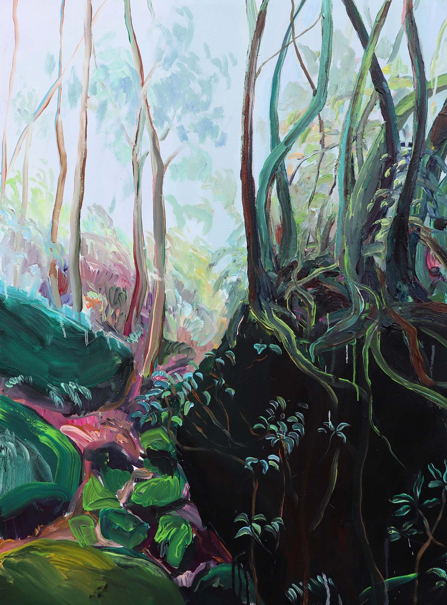 Jana Bednarova, Mawten Forest, Acrylic on canvas, 100 x 75 cm, 2019