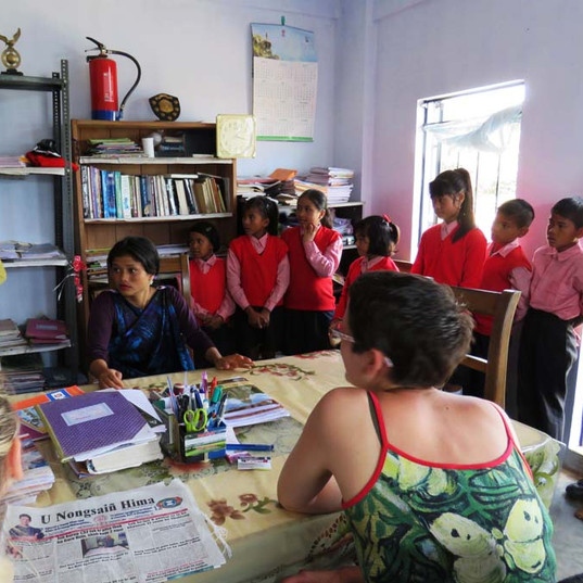 Visit of the schools participating in wo