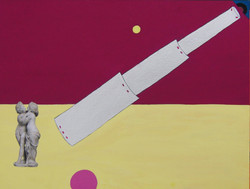 Gabriela Valls Schorr, Telesclope, Poster color on handmade paper, 2016