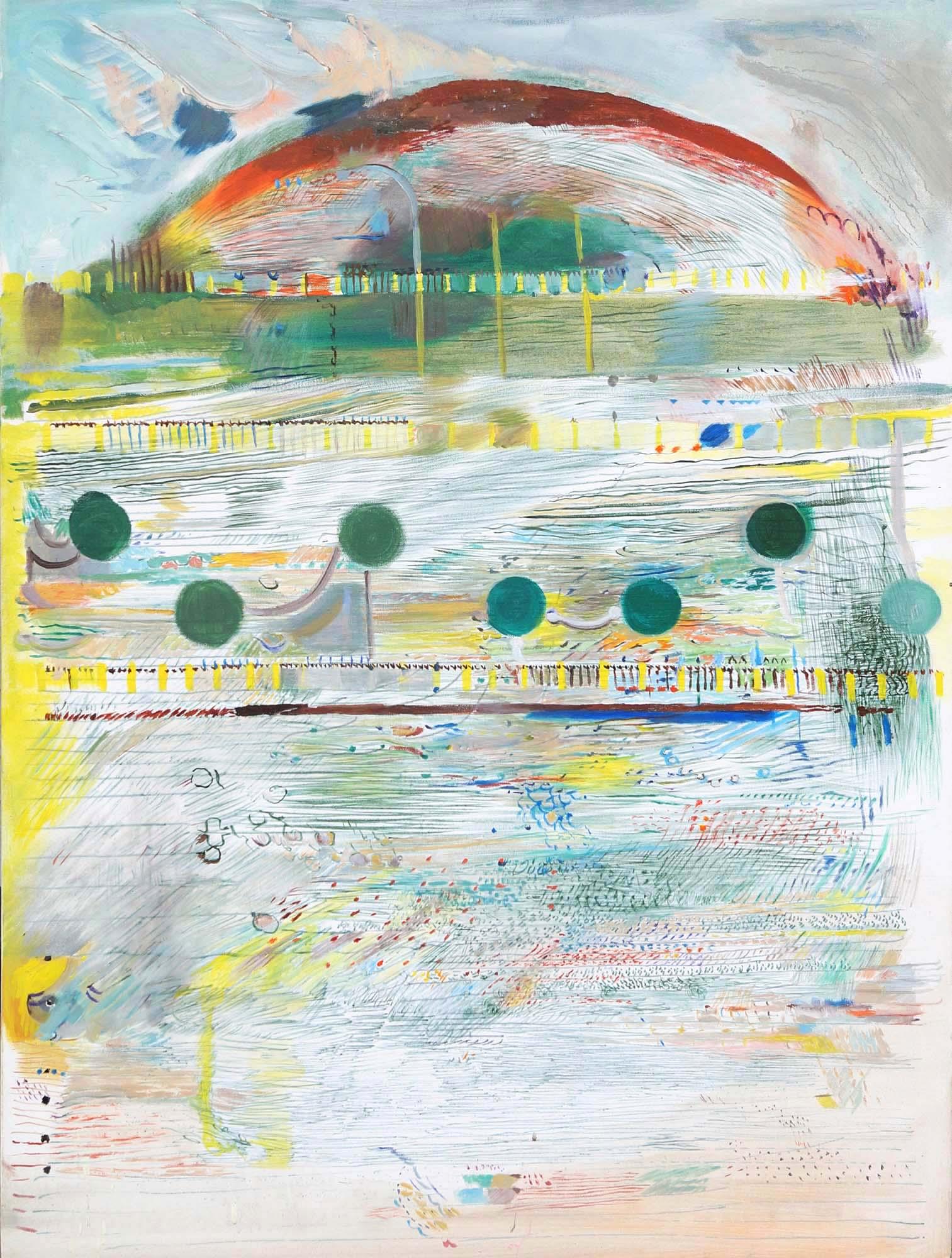 Eliska Fialova, Hill, Acrylic on canvas, 100 x 80 cm, 2016