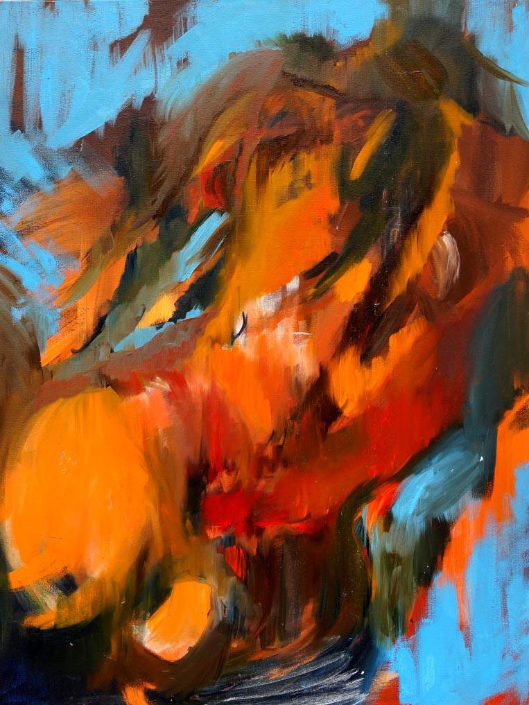 Barbora Chlastakova, The rock, Oil on canvas, 100 x 80 cm, 2016