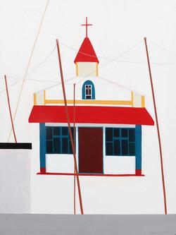 Zsofia Hajdu, Church, Acryl on canvas, 100 x 75 cm, 2017