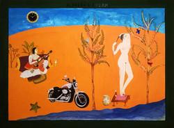 Gabriela Valls Schorr, Dream, Mix media on  paper, 2016