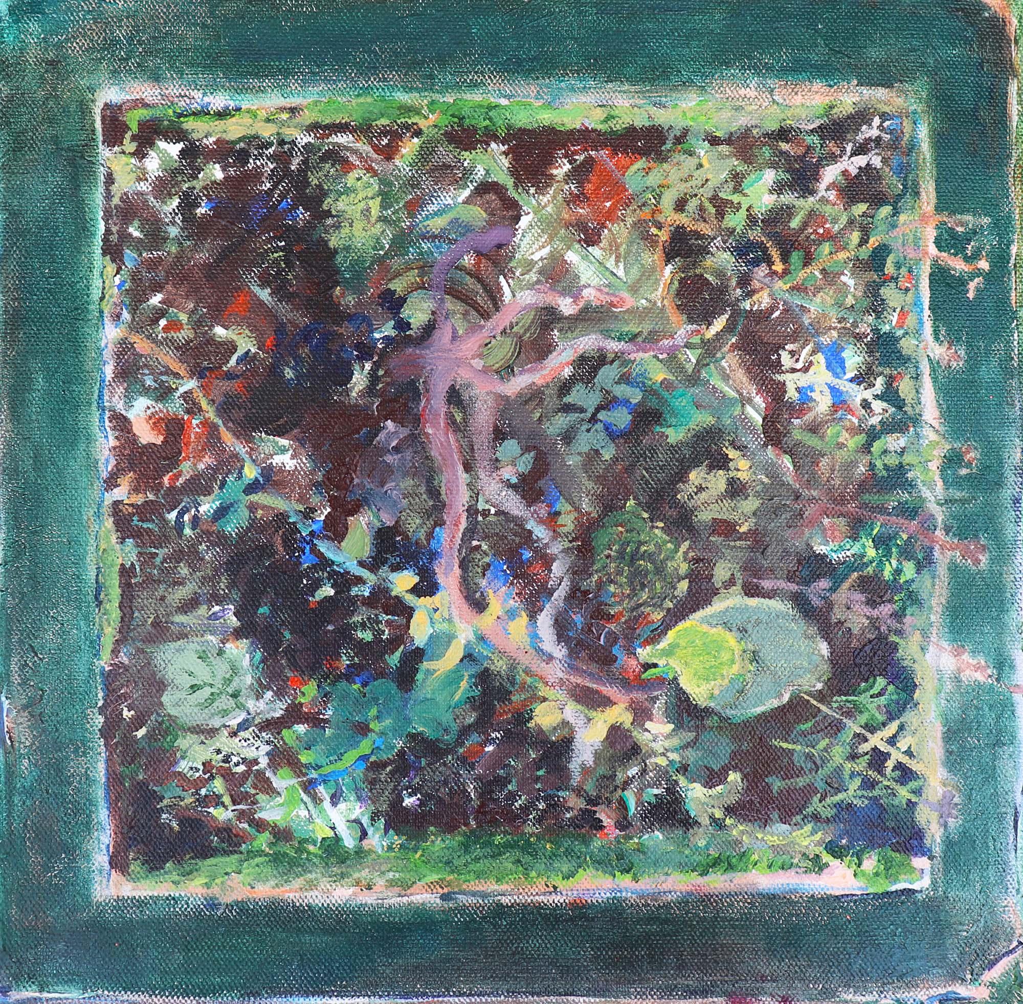 Eliska Fialova, Flowerpot 2, Acrylic on canvas, 30 x 30 cm, 2016