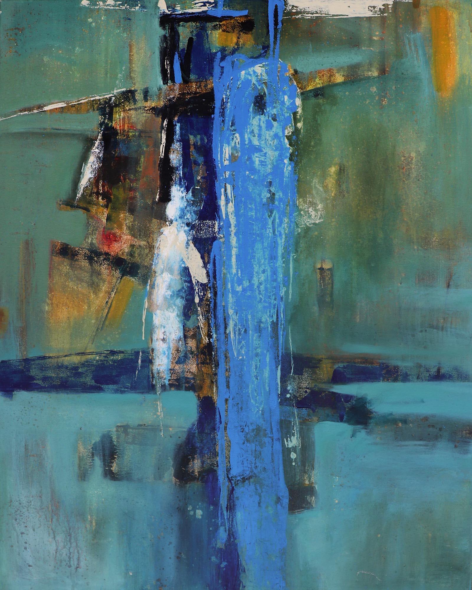 Moinuddin Moni, Monolith 2, Acrylic on canvas,100 x 80 cm, 2017