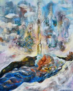 Jan Prazan, Last Journey, Oil on canvas, 100 x 80 cm, 2016