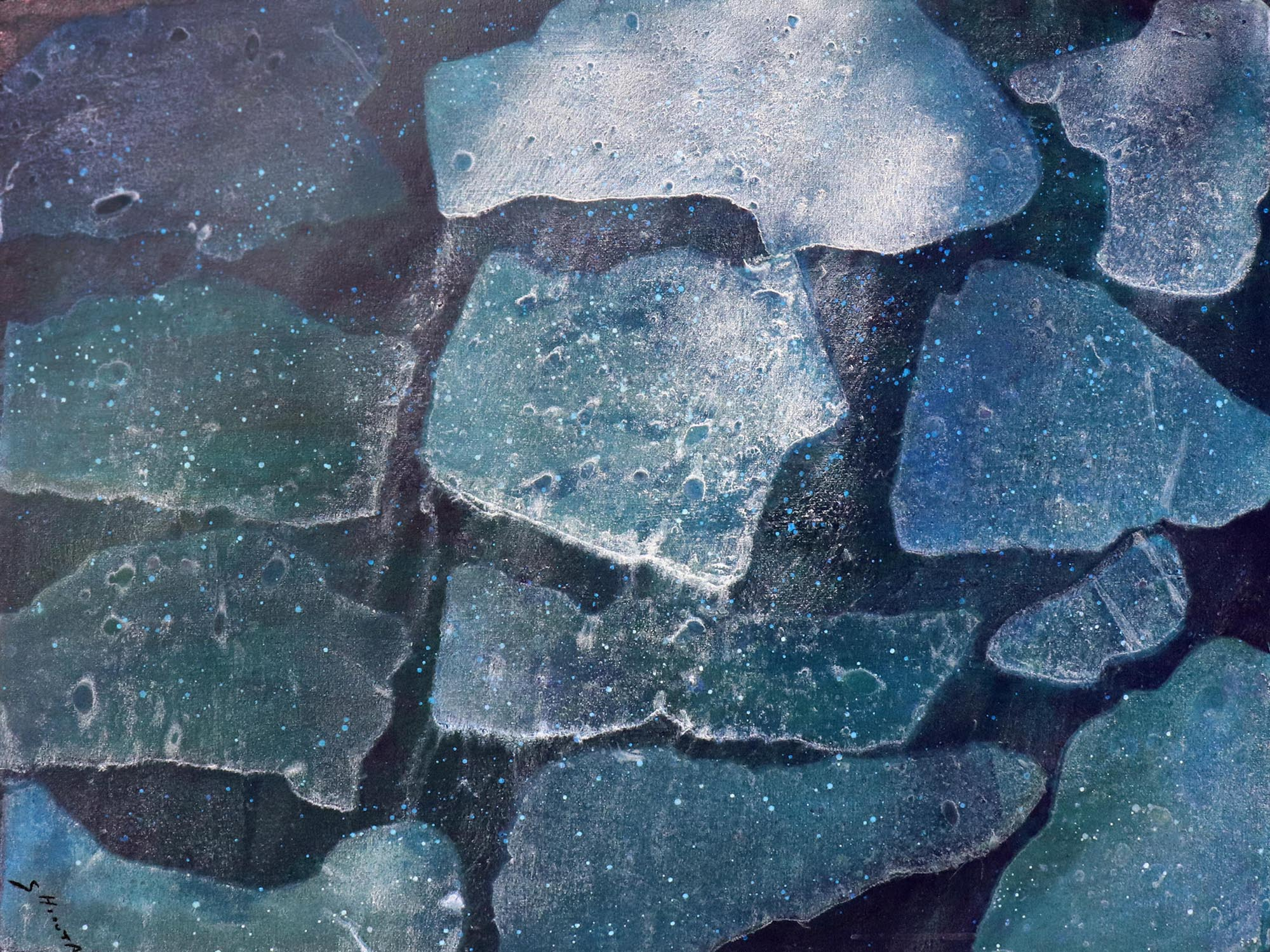 Kaoru Shibuta, Stones,100 x 75 cm, 2018