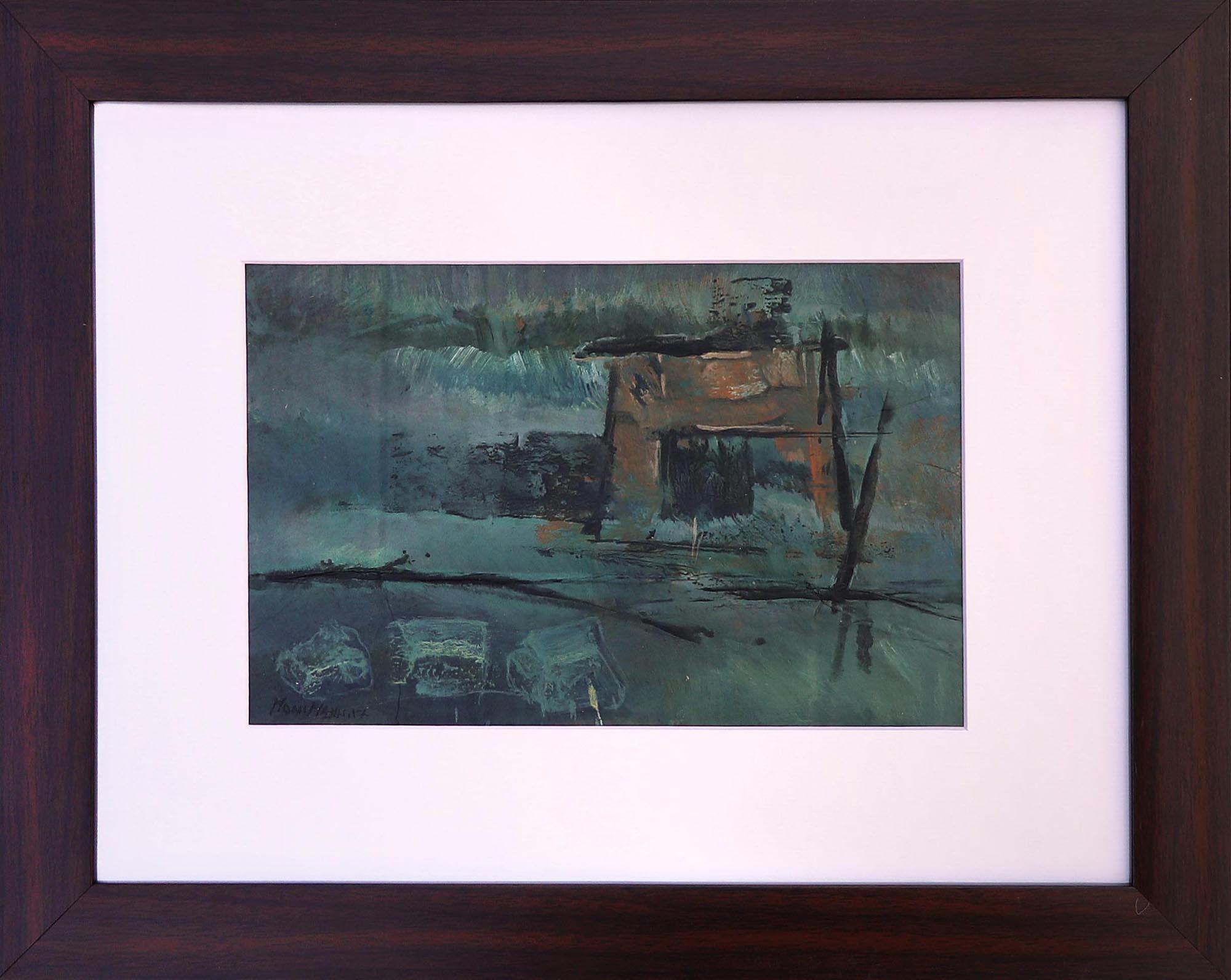 Moinuddin Moni, Sohra 1, Acrylic on paper, 30 x 38 cm with frame, 2017