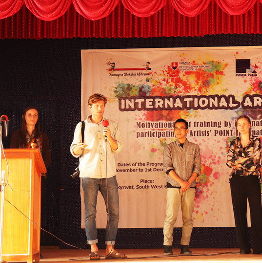 International art Workshopin Mawkyrwat