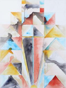 Michaela Vrbkova, Window 1, Acrylic on canvas, 100 x 75 cm, 2017