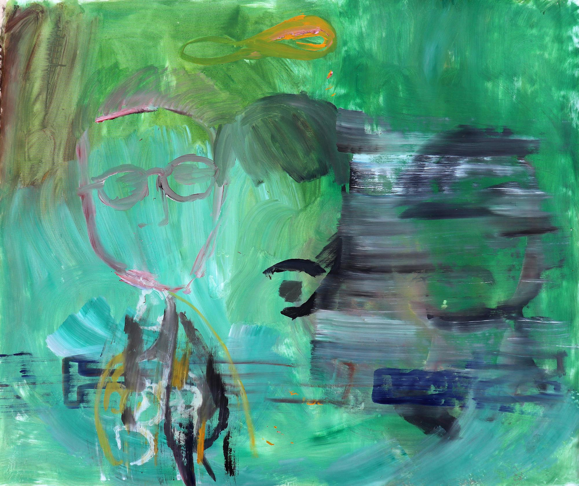 Barbora Kachlikova, Untitled 2, Acrylic on canvas, 2018