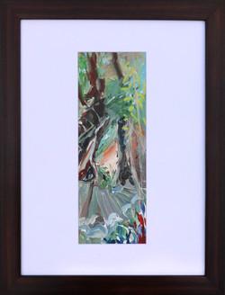 Jana Bednarova, Double Decker Root Bridge 2, 38 x 30 cm with frame, Acrylic on paper, 2016