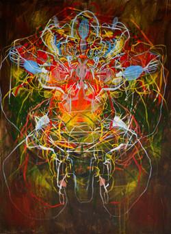 Katerina Pekna, Jungle Spirit, Acrylic on canvas, 100 x 75 cm, 2016