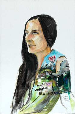 Anna Sypenova, Kopanice bez hranice, Acrylic on Canvas, 75 x 45 cm,2018