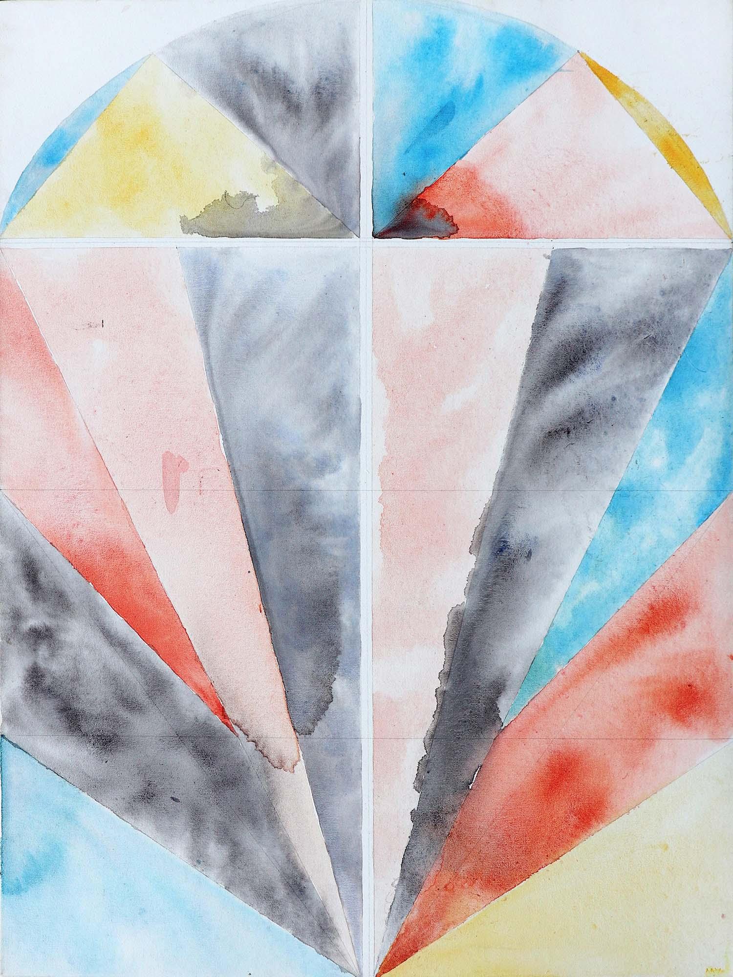Michaela Vrbkova, Window 2, Acrylic on canvas, 100 x 75 cm, 2017