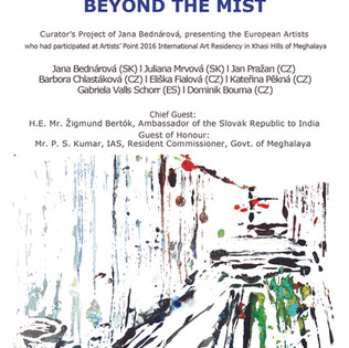Invitation card for Beyond the mist Dehi