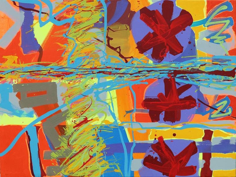 Andrew Smith, Wah Umkhluit (River flow), 75 x 100, 2019