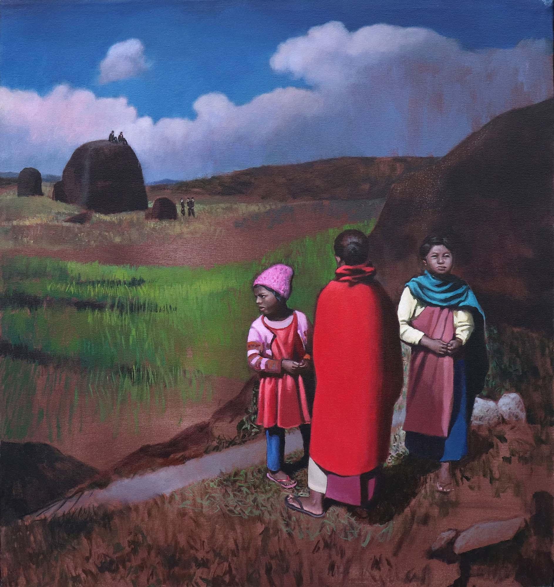 Cristina Megía, The path, Acrylic on canvas, 75 x 70 cm, 2019